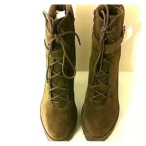 Olive Green Platform Boots BRAND NEW